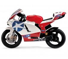 Фото электромотоцикла Peg-Perego Ducati GP 24V White вид сбоку