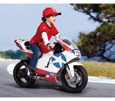 Фото электромотоцикла Peg-Perego Ducati GP 24V White с пассажиром