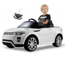 Фото электромобиля Rastar Range Rover Evoque White с пассажиром