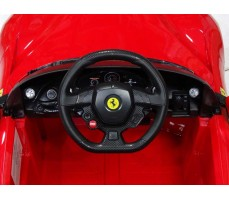 Фото руля электромобиля Rastar Ferrari F12 Red