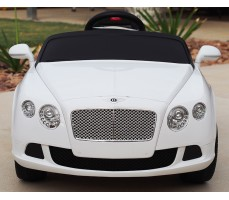 Фото электромобиля Rastar Bently Continental GT White вид спереди