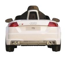 Фото электромобиля Rastar Audi TTS Roadster White вид сзади