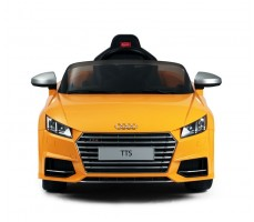 Фото электромобиля Rastar Audi TTS Roadster Yellow вид спереди