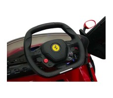 фото руль Детский электромобиль Rastar Ferrari LaFerrari Red