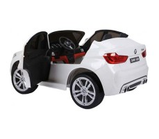 фото с открытой дерью Электромобиль BMW-X6-M-JJ2168 White
