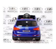 Фото электромобиля River Toys AUDI Q5 Blue вид сзади