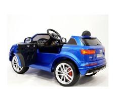 фото детского электромобиля RiverToys Audi Q7 Quattro Blue сзади