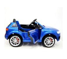 фото детского электромобиля RiverToys Audi Q7 Quattro Blue сбоку