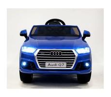 фото детского электромобиля RiverToys Audi Q7 Quattro Blue спереди