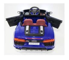 фото детского электромобиля RiverToys Audi R8 Blue сзади
