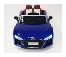 фото детского электромобиля RiverToys Audi R8 Blue спереди