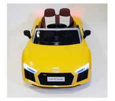 фото детского электромобиля RiverToys Audi R8 Yellow спереди