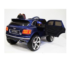 фото детского электромобиля RiverToys Bentley E777KX Blue сзади