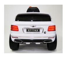 фото детского электромобиля RiverToys Bentley E777KX White сзади