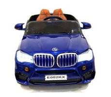 фото детского электромобиля RiverToys BMW E002KX Blue спереди