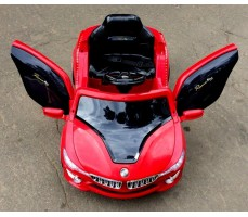 Фото электромобиля RiverToys BMW O002OO Red вид сверху