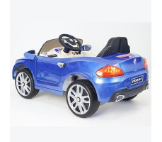 фото детского электромобиля RiverToys BMW P333BP Blue сзади