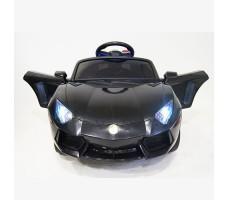 фото детского электромобиля RiverToys Е002ЕЕ Black спереди