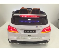 Фото электромобиля Mercedes E009KX White вид сзади