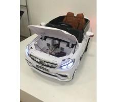 Фото электромобиля Mercedes E009KX White с открытым капотом