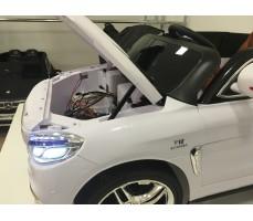 Фото капота электромобиля Mercedes E009KX White