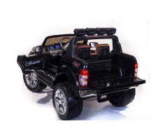 Электромобиль River Toys NEW Ford Ranger 4WD Black вид сзади