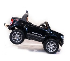 Электромобиль River Toys NEW Ford Ranger 4WD Black вид сбоку с ручкой