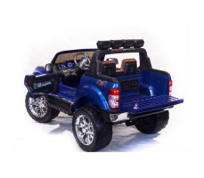 Электромобиль River Toys NEW Ford Ranger 4WD Blue вид сзади