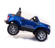 Электромобиль River Toys NEW Ford Ranger 4WD Blue вид сбоку с ручкой