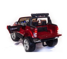 Электромобиль River Toys NEW Ford Ranger 4WD Red вид сзади