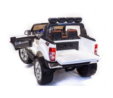 Электромобиль River Toys NEW Ford Ranger 4WD White вид сзади