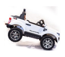 Электромобиль River Toys NEW Ford Ranger 4WD White вид сбоку с ручкой