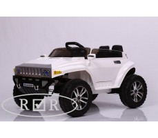 Фото электромобиля RiverToys Hummer A888MP White вид спереди