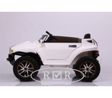 Фото электромобиля RiverToys Hummer A888MP White вид сбоку