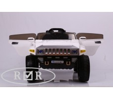 Фото электромобиля RiverToys Hummer A888MP White с открытыми дверьми