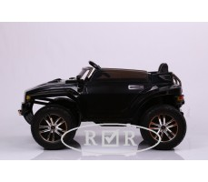 Фото электромобиля RiverToys Hummer A888MP Black вид сбоку