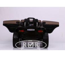 Фото электромобиля RiverToys Hummer A888MP Black с открытыми дверьми