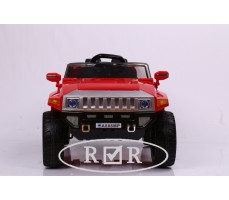 Фото электромобиля RiverToys Hummer A888MP Red вид спереди
