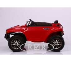 Фото электромобиля RiverToys Hummer A888MP Red вид сбоку