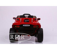 Фото электромобиля RiverToys Hummer A888MP Red вид сзади