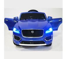 фото детского электромобиля RiverToys Jaguar P111BP Blue спереди