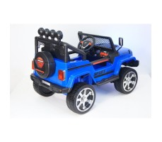 Электромобиль River Toys Jeep T008TT Blue вид сзади