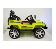 Электромобиль River Toys Jeep T008TT Green вид сбоку