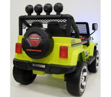 Электромобиль River Toys Jeep T008TT Green вид сзади