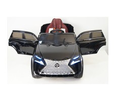 фото детского электромобиля RiverToys Lexus E111KX Black спереди
