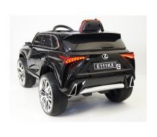 фото детского электромобиля RiverToys Lexus E111KX Black сзади