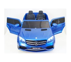 Электромобиль River Toys Mercedes-Benz GLS63 4WD Blue вид спереди
