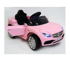 фото детского электромобиля RiverToys Mercedes O333OO Pink сбоку