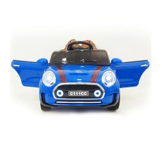 фото детского электромобиля RiverToys Mini Cooper C111CC Blue спереди