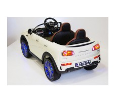 Электромобиль River Toys MiniCooper A222AA White вид сзади